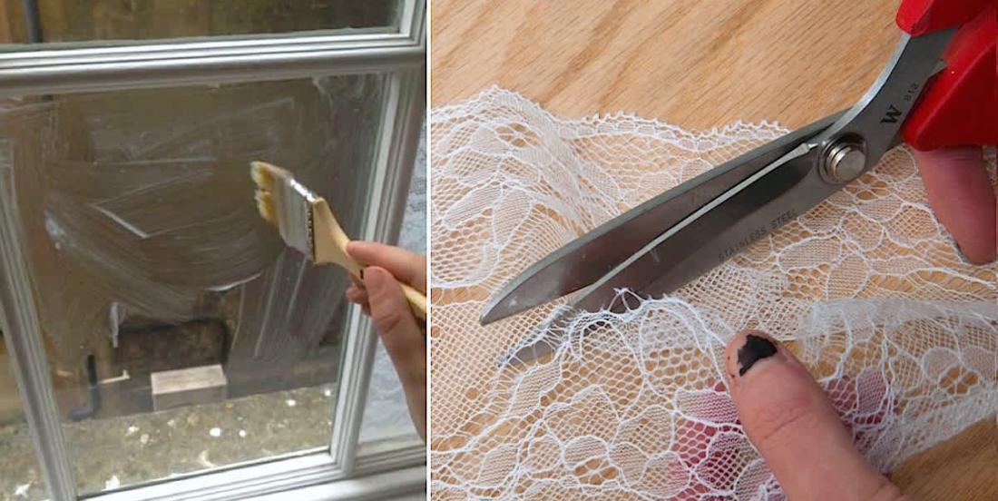 DIY: Make beautiful lace window treatment.