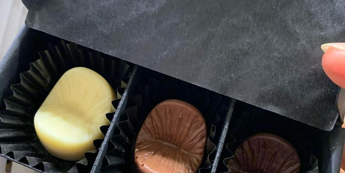 You can get edible chocolate shaped in this really weird body part!