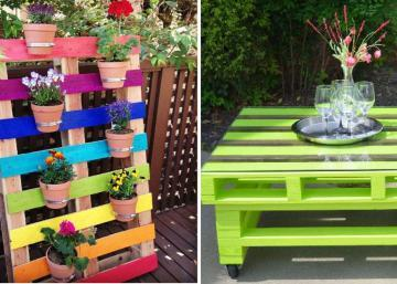 Add vivid colors to wooden pallets! 15 ideas that will bring happiness to your garden!