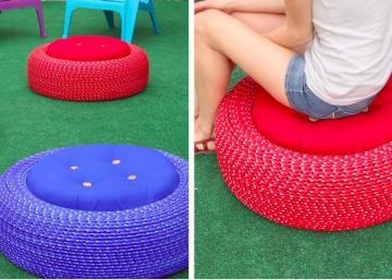 Learn how to make a sofa for the garden, with recycled material!