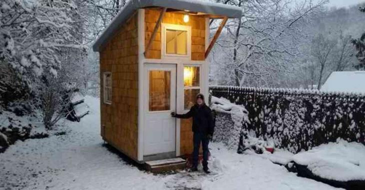 He's 12 and he builds the smallest house ever seen in his garden!