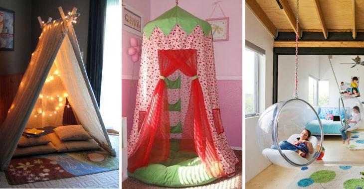 Create a reading area in your children's room with these wonderful ideas. They will not want to leave their room.