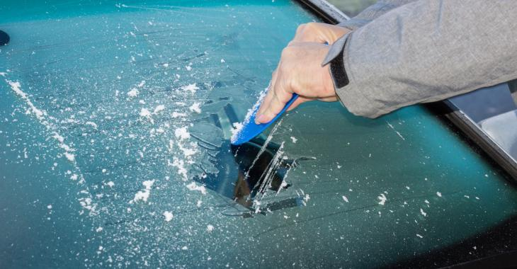 You will not have to scratch your windows in cold weather !!