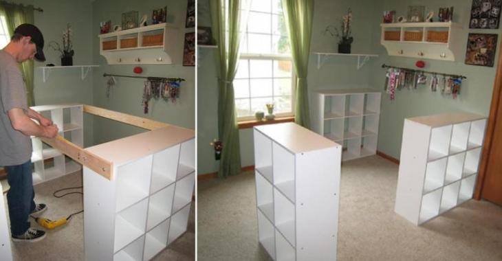 He assembles 3 Ikea shelves for his wife. This is a dream! It's wonderful!