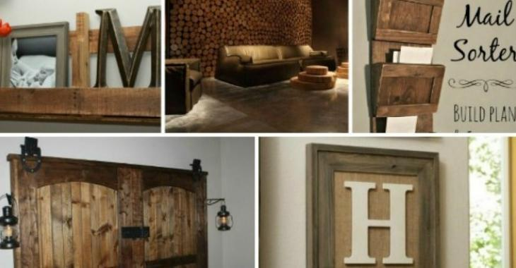 Here are some ideas to give a rustic look to your home