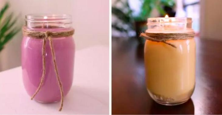 Make your own aromatic candles