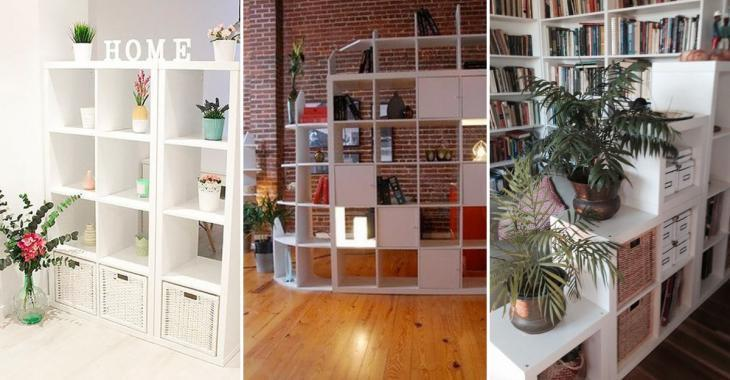 Here are 20 different ways to create room separations with IKEA furniture