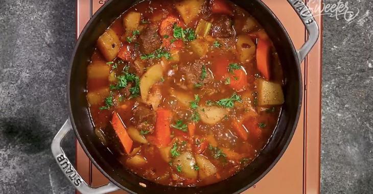 Comfort food! Crock pot beef stew