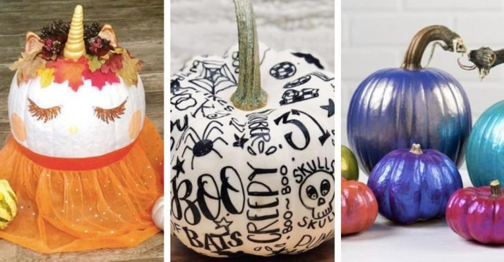 Here are 18 pumpkin painting ideas for all those who hate carving pumpkins!