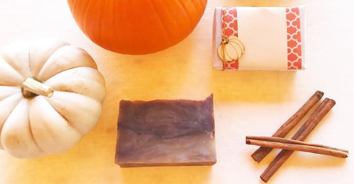 A DIY pumpkin-spice soap