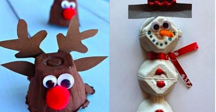 Here are 11 Christmas crafts to make with egg cartons