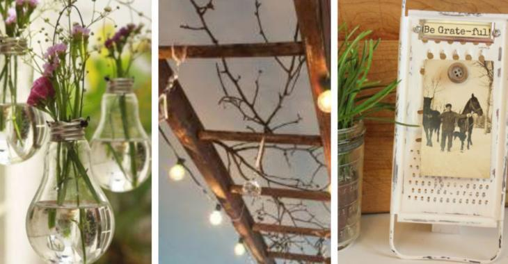 Here are 16 more than original ideas to decorate with recycled items