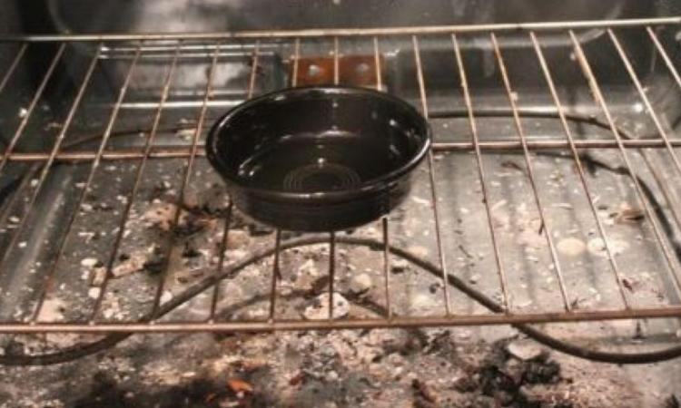 She places a bowl in her oven and goes to bed. When she wakes up, her trick made everything clean effortlessly!